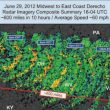 June 29, 2012, Midwest to East Coast Derecho Radar Imagery Composit Summary