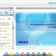 Screenshot of ON24 live chat using Microsoft's Yammer