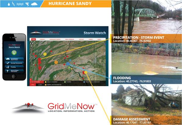 Screenshot of GridMeNow's Storm Watch
