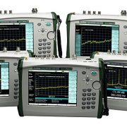 Photo of Anritsu's Spectrum Master MS2720T family of handheld spectrum analyzers