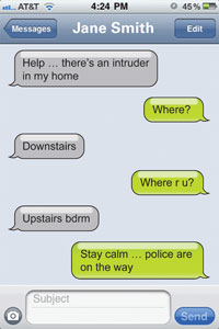 Screenshot of a text-to-911 conversation