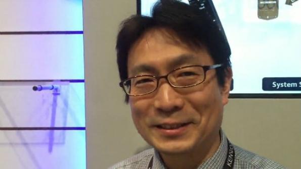 JVCKENWOOD: Masa Hishida demonstrates hybrid LTE/P25 portable radio, cites 2018 target for commercial release