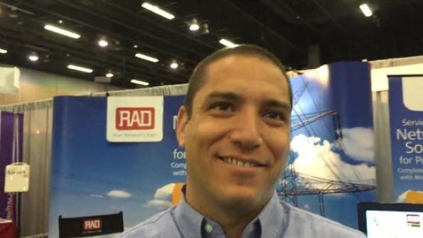 RAD: Elad Harf demonstrates the capabilities of company's Megaplex platform