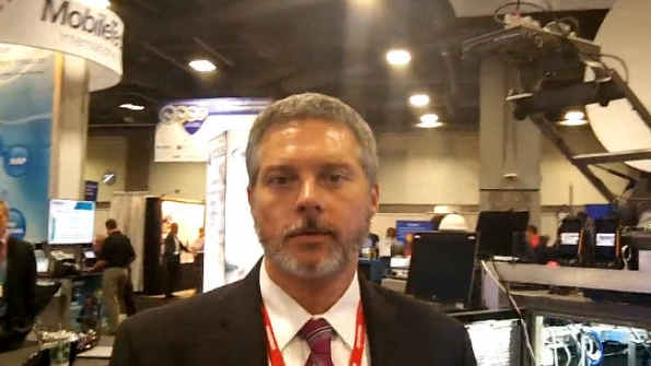 Mutualink: Joe Boucher demonstrates features of company's collaboration platform within New Jersey public-safety LTE system