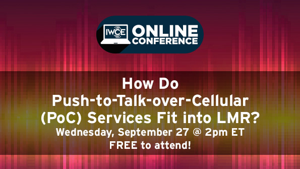 How do push-to-talk-over-cellular (PoC) services fit into LMR?