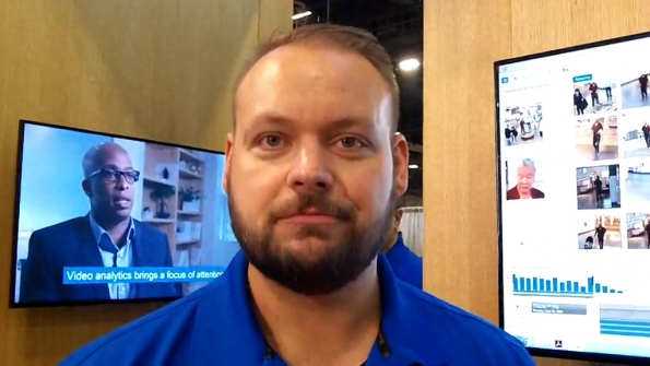 Motorola Solutions: Bryon Wheaton demonstrates video capabilities from new Avigilon unit