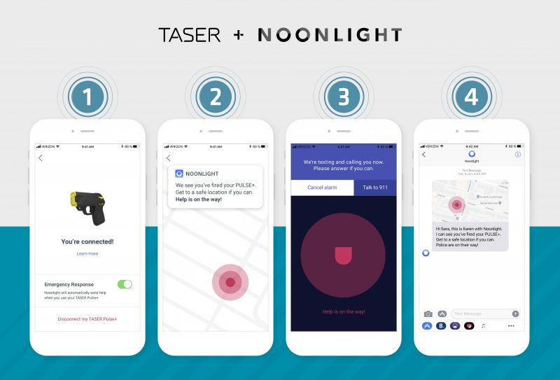 Noonlight teams with Axon to notify public safety when consumer TASER device is used