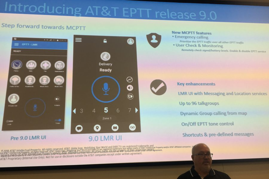 AT&T FirstNet highlights new EPTT features, future promise of MCPTT