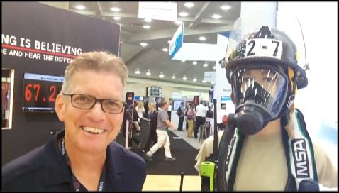 L3Harris: Don Griffis showcases integration of XL-200 radio with SCBA mask from MSA