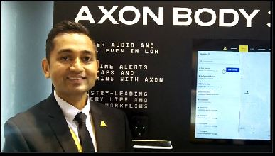 Axon: Kevin Shah shows how Axon Body 3 camera enables real-time streaming video from incident location