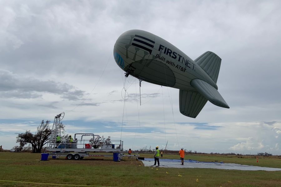 FirstNet One LTE blimp used for first time in aftermath of Hurricane Laura